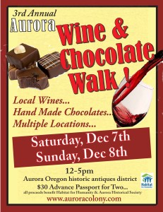 Wine & Chocolate- get tickets 8x11 poster