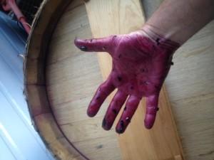 purple hand