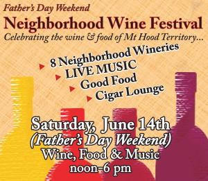 Mt Hood winefest 8 x11 poster 2014